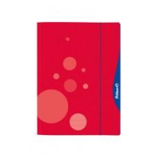 Aplankas A3 kartoninis su guma raudonas 00237284 HERLITZ, D01-225