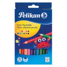 00724039 PELIKAN, Tribriauniai pieštukai 12 spalvų, R06-150