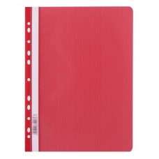 009013 LEVIATAN Segtuvėlis sk.viršeliu ir perf A4 raudonas D04-355