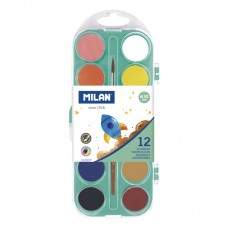 Akvarelė 12sp+teptukas, Ø 30mm, 053312P MILAN, R14-110