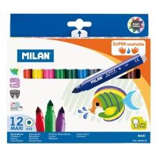 0692412 MILAN Flomasteriai 12sp MAXI R07-045