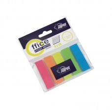 B11-409 Plastikiniai indeksai 44x12mm 5 spalvų 100-01000 FORPUS