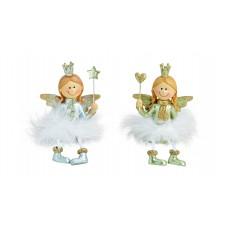 Dekoracija ANGELIUKAS 14cm 10022240 GWURM, X015-086