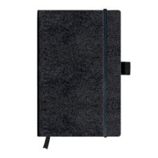 10789428 HERLITZ Užrašų knygutė su guma A5 96l lang juoda B03-680