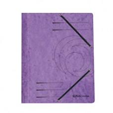 D01-0702 Aplankas kartoninis su guma violetinis 11199536 HERLITZ