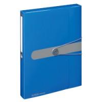11206125 HERLITZ Aplankas su guma A4 4cm mėlynas D04-1663
