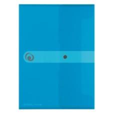 11206687 HERLITZ Aplankas-vokas A4 su spaustuku skaidrus - mėlynas D04-092
