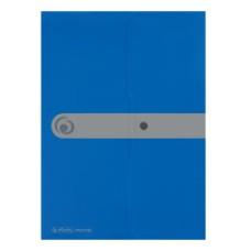 11206703 HERLITZ Aplankas-vokas A4 su spaustuku mėlynas D04-090