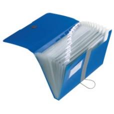 11208402 HERLITZ Dėklas dokumentams su 12skyrių mėlynas D05-204
