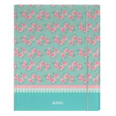 11223872 HERLITZ, Dėklas A4 su guma Ladylike Roses, M02-126