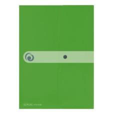 11227022 HERLITZ Aplankas-vokas A4 su spaustuku žalias D04-091
