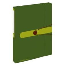 11279833 HERLITZ Aplankas su guma A4 4cm EASY žalias D04-162