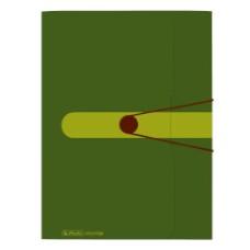 11282530 HERLITZ, Aplankas A4 su guma t.žalias,D04-632