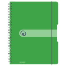 11293099 HERLITZ Sąsiuvinis A4 su spirale, guma 80l lang žalias B02-233