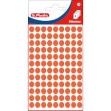 11296654 HERLITZ Apvalūs lipdukai 8mm raudoni 432vnt B12-239