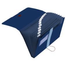 11411261 HERLITZ Dėklas dokumentams su 12skyriu t.mėlynas D05-216