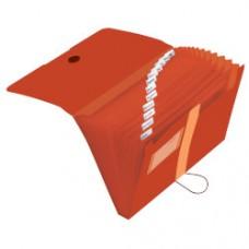 11411279 HERLITZ Dėklas dokumentams su 12skyriu oranžinis D05-217