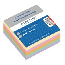 B11-010 Spalvoti klijuoti užrašų lapeliai 9-9cm 500l 137516 STARPAK