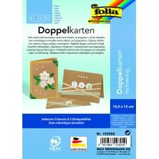 150598 FOLIA Rinkinys 5 vokai, 5+5 dekor.atvirukai, rudas B14-985