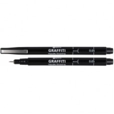 16408 PAPIRUS Rašiklis GRAFFITI 0,05mm juodas R01-675
