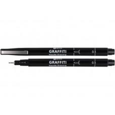 16411 PAPIRUS Rašiklis GRAFFITI 0,5mm juodas R01-678