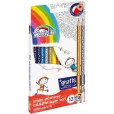 Pieštukai FIORELLO 12 spl. Super Soft 170-2150 KW TRADE,  R06-152