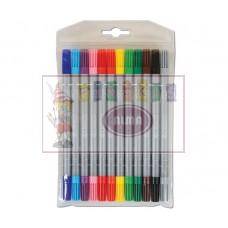 R07-062 Dvipusiai flomasteriai 12spalvų CRESCO 210012