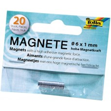 2520 FOLIA Magnetai 20vnt 6mmx1mm, P05-530