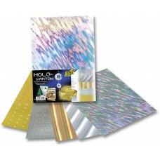 300409 FOLIA Folija holografinė, lipni 25x35cm 5l B10-615