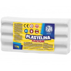 303111001 ASTRA Plastilinas 1kg baltas M05-683