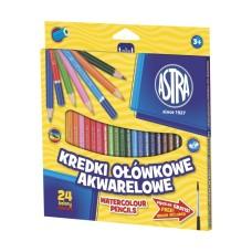 312110005 ASTRA Akvareliniai pieštukai 24sp R06-181