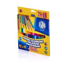 312113004 ASTRA Dvipusiai pieštukai 24vnt 48sp R06-183