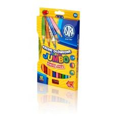 312118002 ASTRA Pieštukai daugiaspalviu grafitu 12vnt R06-034