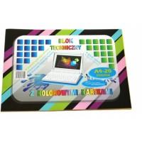 313251 PROTOS Dvipusis spalvotas kartonas A4 20l 160g/m B06-042