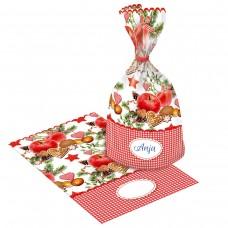 40001913 SUSY CARD Skaidrios folijos maišelis dovanoms 14.5x23cm 6vnt B10-561
