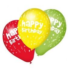 40011264 SUSY CARD Balionai HAPPY BIRTHDAY 10vnt įvairų spalvų M09-746