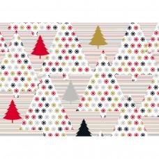 40023984 SUSY CARD Kalėdinis dovanų pakavimo popierius EGLĖS 70x150cm B10-312