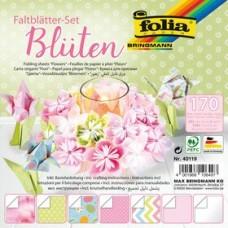 40119 FOLIA Origami Blossoms 15x15cm / 7,5cmx7,5cm 170vnt B06-715