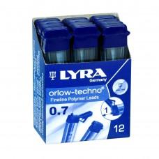 R05-103 Šerdelės aut.pieštukui 0.7 2B L5002102 LYRA/FILA/12