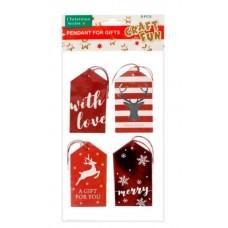 Kalėdinis dovanu kortelė, 4vnt, 438615 STARPAK, B10-149