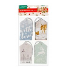 Kalėdinė dovanu kortelė, 4vnt, 438802 STARPAK, B10-148