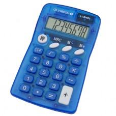 Skaičiavimo mašinėlė LCD 825, mėlyna, 4670 OLYMPIA
