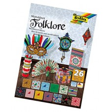 47049 FOLIA Popieriaus rinkinys 24x34cm 26l FOLKLORAS mix B06-1073