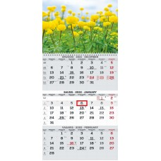 B13-047 Kalendorius 3-jų dalių 2022m TRIOvientisas 2417020007 TIMER