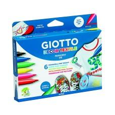 R07-126 Flomasteriai 6sp GIOTTO DECOR TEXTILE 494800