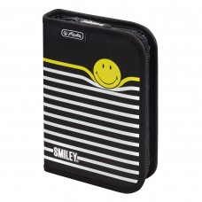50015405 HERLITZ, Tuščias penalas SMILEY B&Y STRIPES, M01-631