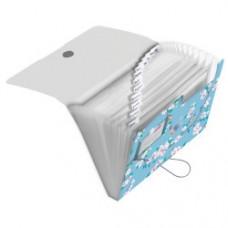 50021604 HERLITZ Dėklas dokumentams su guma ir 12 skyrių LADY LIKE BIRDS D05-223