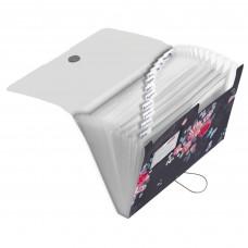 50021611 HERLITZ Dėklas dokumentams su guma ir 12 skyrių D05-222