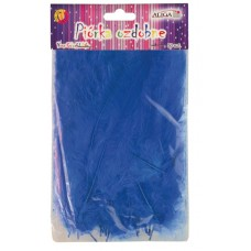 Dekoracija PLUNKSNOS 10-12cm mėlynos 50 vnt, P-012 ALIGA, M10-8607