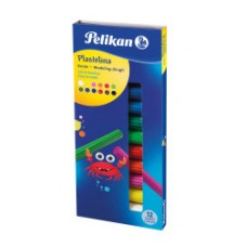 00602327 PELIKAN, Plastilinas 12 spalvų, M05-614